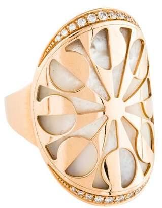 Bvlgari 18K Mother of Pearl & Diamond Eden Ring