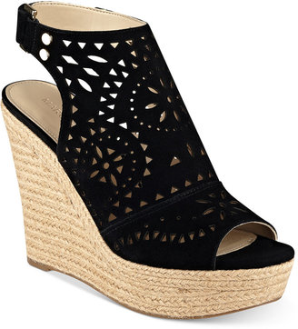 Marc Fisher Harlea Platform Wedge Sandals $79 thestylecure.com