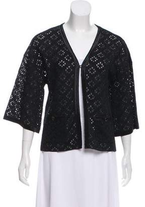 Chanel Silk Open Knit Cardigan