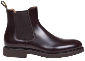 Doucals Boots In Bordeaux Leather