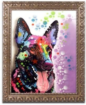 Trademark Fine Art Dean Russo 'German Shepherd II' Ornate Framed Art