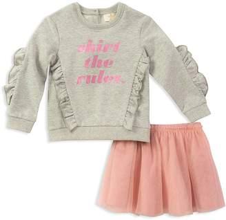 Kate Spade Girls' Skirt the Rules Sweatshirt & Tulle Skirt Set