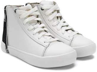 Diesel zip-detail hi-top sneakers
