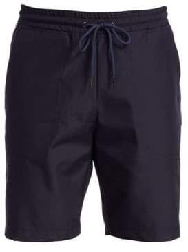 Saks Fifth Avenue MODERN Silver Stripe Stretch Shorts