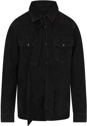 MSGM Black Denim Girl Shirt