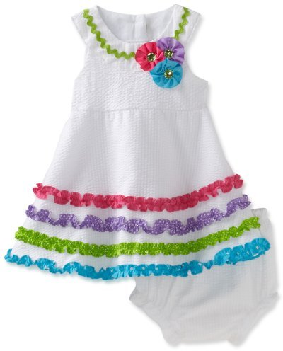 Rare Editions Baby-girls Infant Seersucker Dress