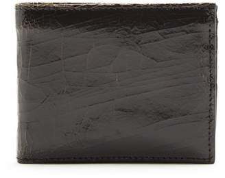 Marc Marmel Bi Fold Cracked Leather Wallet - Mens - Black