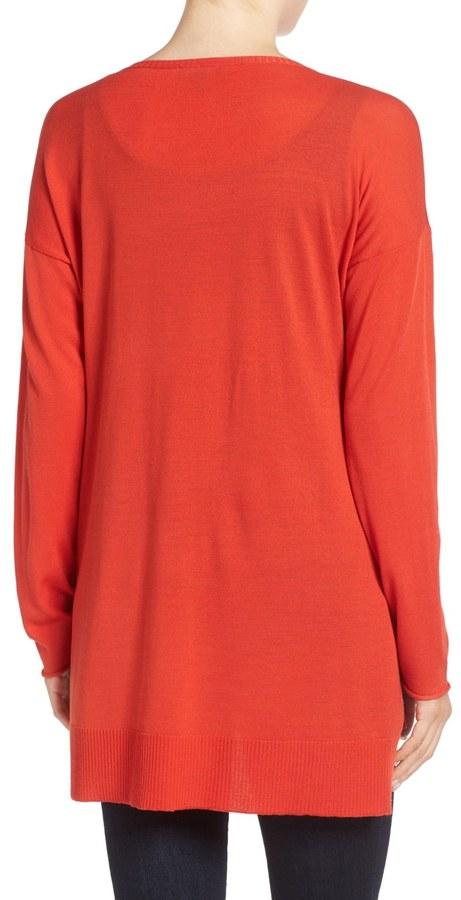 Eileen Fisher Featherweight Merino Wool Sweater 17