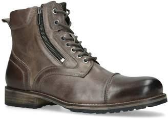 Kurt Geiger London Leather Buxton Biker Boots