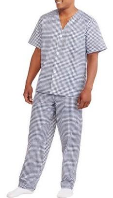 Fruit of the Loom Men's Short Sleeve Long Leg Print Pajama