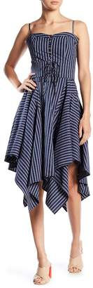 Joie Ronit Striped Sharkbite Hem Dress