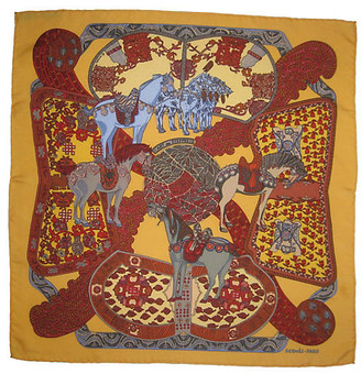 One Kings Lane Vintage HermAs Art des Steppes Pochette Scarf - The Emporium Ltd.