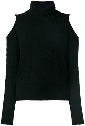 Theory cold shoulder turtleneck sweater