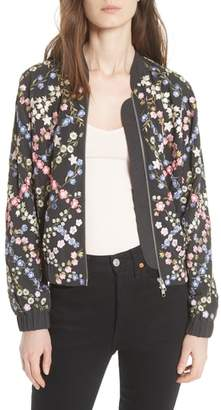 Needle & Thread Crosshatch Embroidered Bomber Jacket
