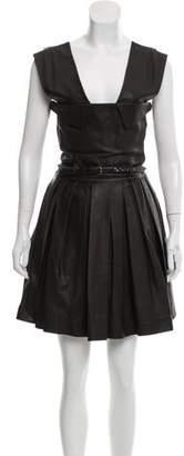 Preen Line Leather Mini Dress