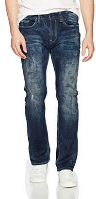 Buffalo David Bitton Men's Six-x Straight Fit Veined and Sanded Wash Denim Fashion Pant
