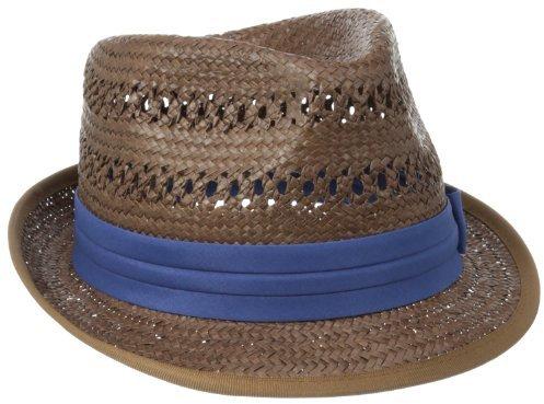 Ben Sherman Men's Vented Straw Trilby Hat