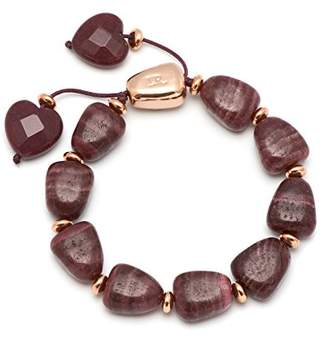Lola Rose Robin Black Plum Claret Quartz Bracelet of Length 20-26cm