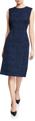Kiton Sleeveless Tweed Sheath Dress
