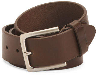 Mens Made In Italy Leather Belt