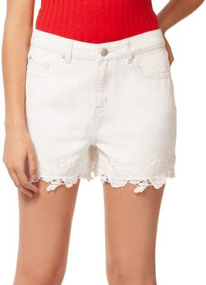 Dex Embroidered Lace Cotton Shorts
