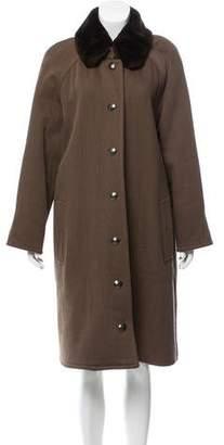 Chanel Fur-Trimmed Longline Coat