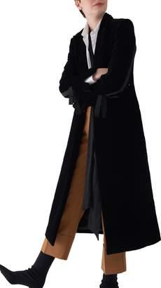 Sosken Gala Long Quilted Velvet Coat