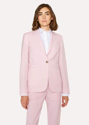 Paul Smith Women's Light Pink One-Button Wool-Mohair Blazer