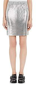 Paco Rabanne Women's Metal Mesh Skirt-Silver
