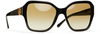 Tory Burch SQUARE METAL-LOGO SUNGLASSES