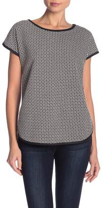 Max Studio Steph Patterned Hi-Lo Top