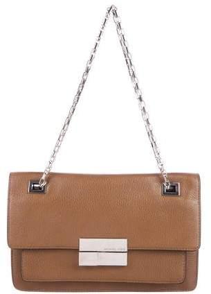 Michael Kors Leather Shoulder Bag - BROWN - STYLE