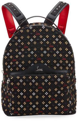 Christian Louboutin Men's Backloubi Jacquard Canvas Backpack