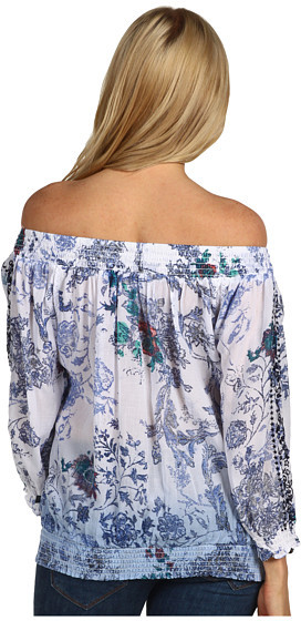 D.E.P.T Cotton Printed Off Shoulder Top