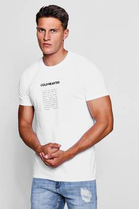 boohoo Crew Neck T-Shirt With Graphic T-Shirt