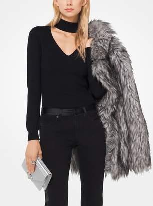 MICHAEL Michael Kors Cotton Cutout Pullover