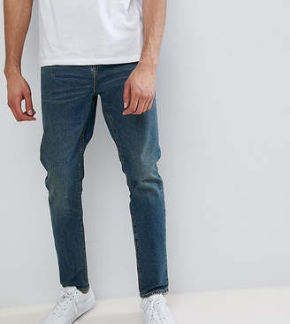 Asos DESIGN TALL Tapered Jeans In Vintage Dark Wash
