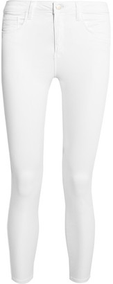L'Agence - Margot High-rise Skinny Jeans - White $225 thestylecure.com