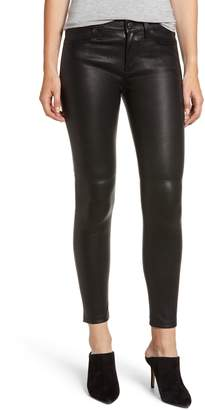 Current/Elliott The Stiletto Ankle Skinny Lambskin Leather Pants