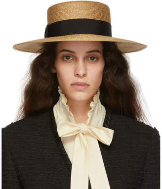 Gucci Gold Straw Hat