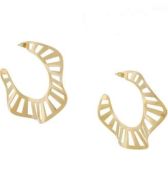 Arme De L'amour twisted hoop earrings