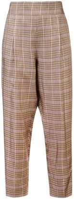 No.21 checked cropped trousers