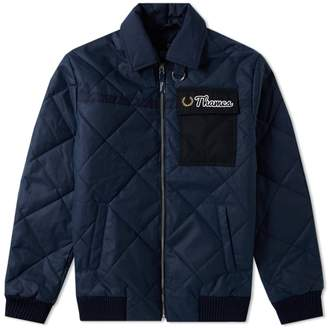 Fred Perry Authentic x Thames Quilted Waxed Jacket