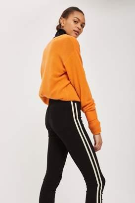 Topshop MOTO Black Side Striped Jamie Jeans