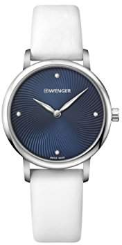 Wenger Women's 'Classic' Swiss Quartz Stainless Steel and Satin Casual Watch