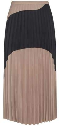 Mint Velvet Wave Print Pleated Skirt