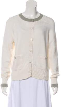 Chanel Cashmere Button-Up Cardigan grey Cashmere Button-Up Cardigan