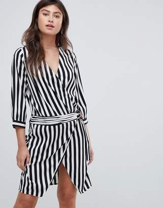 Vero Moda stripe wrap dress