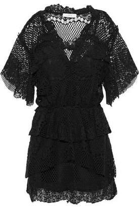 IRO Penny Cotton-Blend Lace Mini Dress