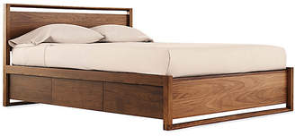 Design Within Reach Matera Bed with Storage, Brown, Queen